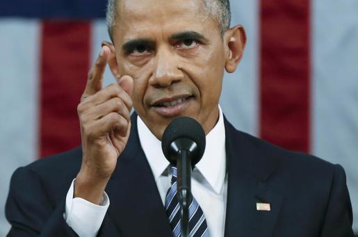 Barack Obama, durante su discurso.