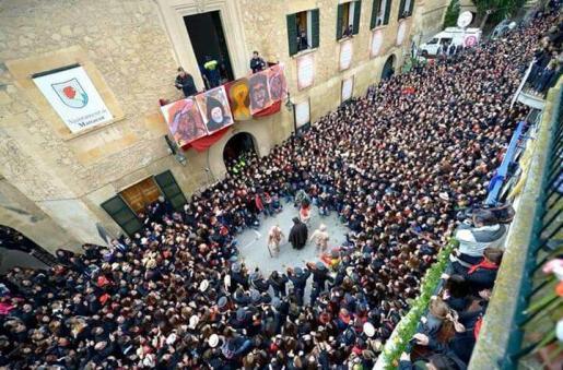Celebración de Sant Antoni en Manacor.
