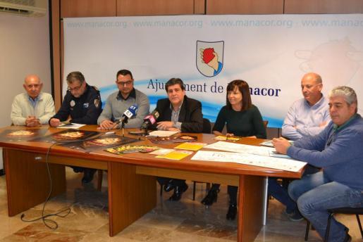 Momento de la presentación del plan de seguridad desplegado durante la celebración de la fiesta de Sant Antoni.