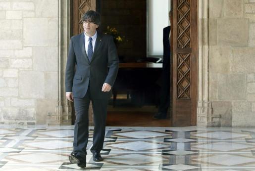 El presidente de la Generalitat, Carles Puigdemont. Foto: Andreu Dalmau