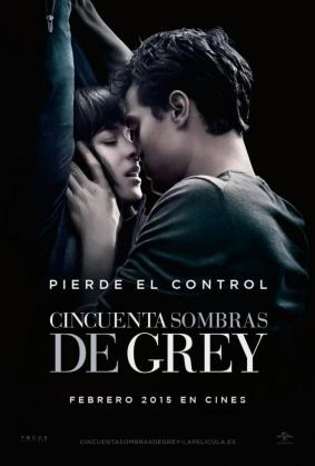 Cartel promocional de «Cincuenta sombras de Grey».