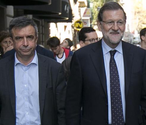 Miquel Vidal y Mariano Rajoy en Palma.