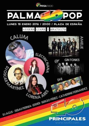 Cartel del concierto 'Palma 40 Pop 2016'.