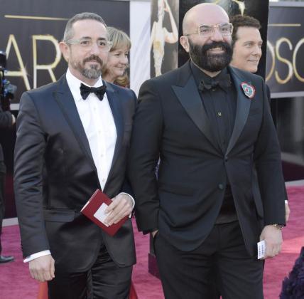 Paco Delgado en la entrega de los Oscar 2013.
