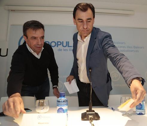Miquel Vidal y Fernando Martínez-Maillo en Inca.