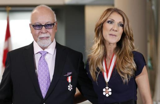 Celine Dion y Rene Angelil, en una imagen de archivo.
