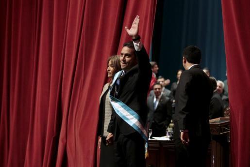 Morales junto a su mujer Gilda.