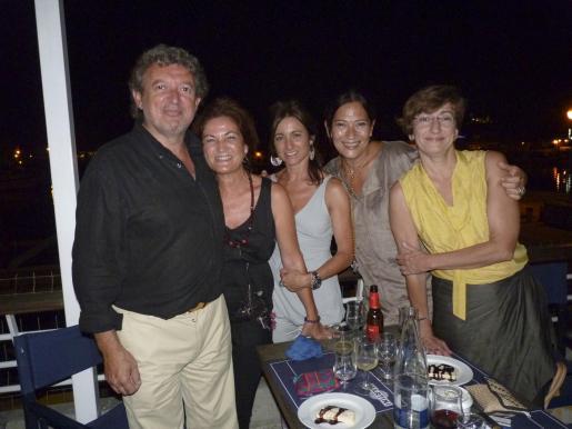 Miquel Dols, Margalida Llinás, Elvira Estrany, Lucía Cánoves y Margarlida Buades.