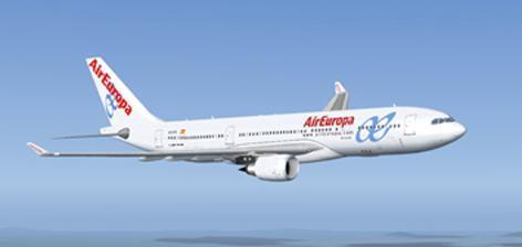 Avión de la compañía aérea Air Europa.