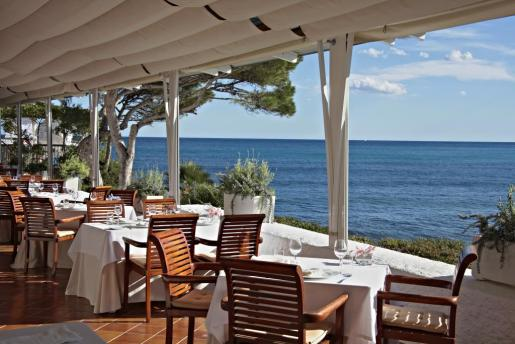 La terraza del restaurante Vintage 1934, en Canyamel, Mallorca.