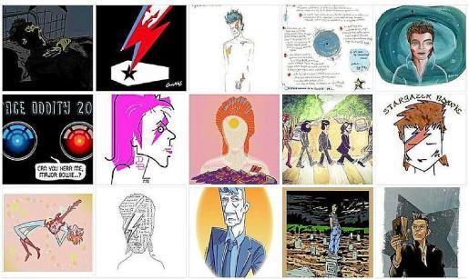 Algunos de los dibujos que se publicarán en la página web de Cómic Nostrum.