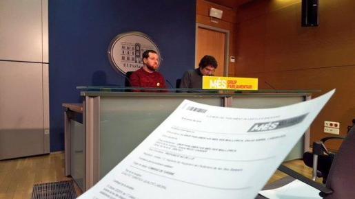 David Abril y Antoni Reus, durante la rueda de prensa de este lunes.