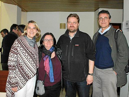 Magdalena Obrador, Pilar Arnau, Albert Herranz y Pablo Pérez-Villegas.