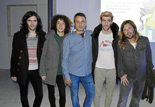 Xarim Areste, Ricard Sohn, Miquel Gayà, Josep Munar y Jordi Álvarez.