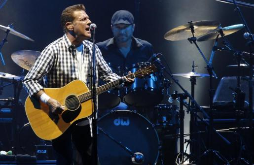 Glenn Frey of the rock group 'The Eagles' performs at a concert in honour of Monaco's Prince Albert II and his fiancee Charlene Wittstock at the Stade Louis II stadium in Monaco in this June 30, 2011 file photo. Guitarist Glenn Frey, a founding member of rock band the Eagles, died in New York on January 18, 2016 at age 67, the band said on its website. REUTERS/Benoit Tessier/Files PEOPLE-GLENNFREY/