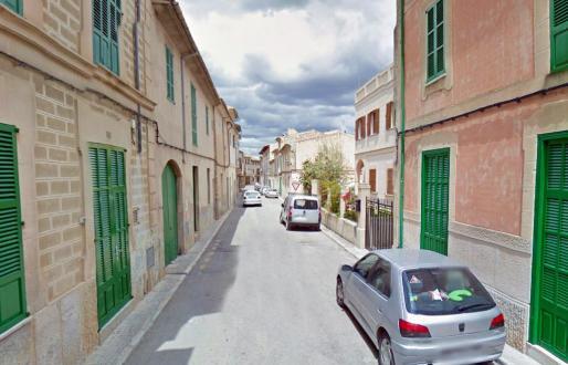 El carrer Major de Porreres, localidad en la que se han descubierto empadronamientos falsos.