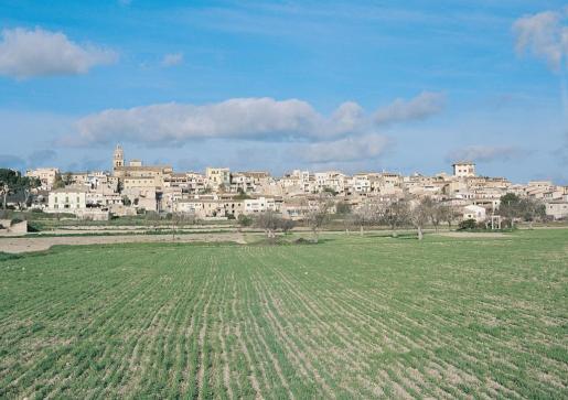 Vista del Ajuntament de Montuïri.