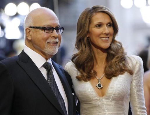 Céline Dion y su marido René Angelil.