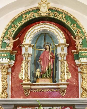 El nuevo retablo ha sido construido por el taller Julián del Olmo Lara. Foto: ARGUIÑE ESCANDÓN