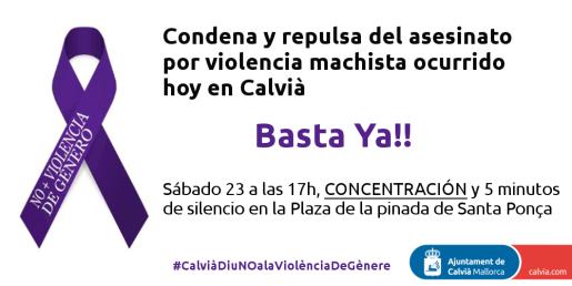 Cartel de la concentración que ha organizado el Ajuntament de Calvià.