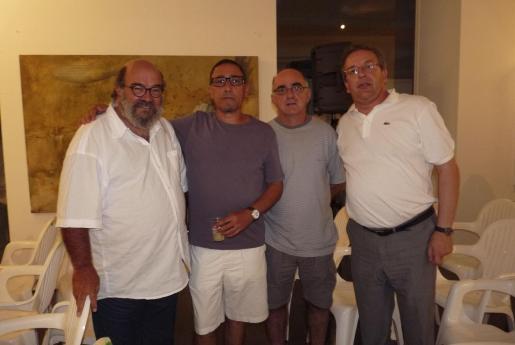 Jaume Aguiló, Andreu Aguiló, Tomeu Fiol Serra y Lluís Socías.