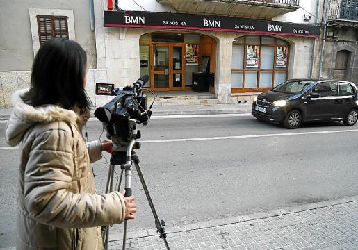 Sucursal bancaria del BMN-Sa Nostra que fue objeto del atraco.
