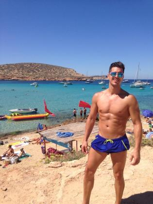 Maikel López, en una fotografía tomada en Eivissa y colgada en su cuenta de Twitter.