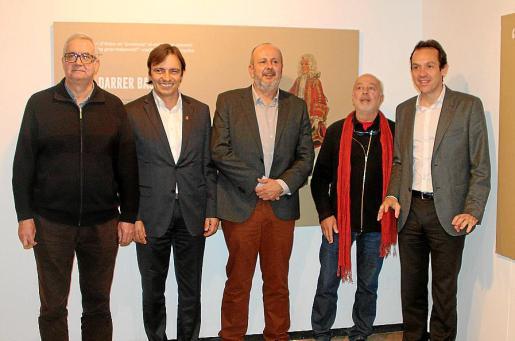Damià Pons, Francesc Miralles, Miquel Ensenyat, Bartomeu Mestre y Marc Pons.