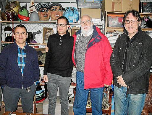 Jordi Banal, Marcel Pich, Alejandro Segura y Carles Molinet.