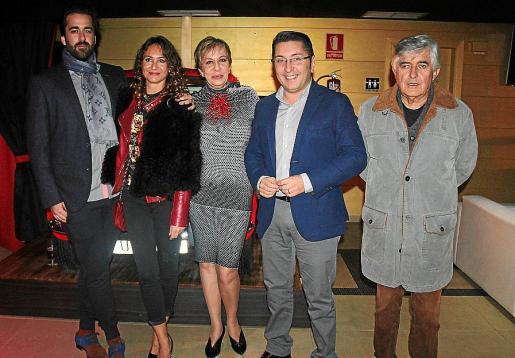 Carlos Prieto, Cristina Muñoz, Celia Velasco, Carlos Durán y Pedro Prieto.
