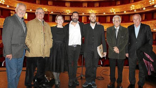 Sebastián Roser, Antoni Ruano, Amanda Corral, Jaume Anglada, Miguel Ángel Aguiló, Josep Coll y Nadal Torres.