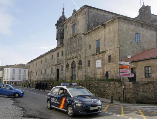 Convento de las Mercedarias, situado en el centro histórico de la capital gallega, donde el juzgado de instrucción número uno de Santiago investiga la supuesta retención ilegal de monjas de clausura.