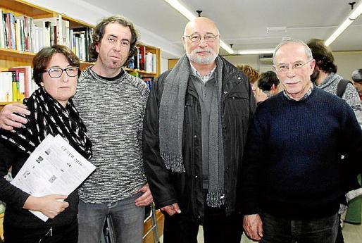 Gloria Forteza-Rey, Pere Joan Martorell, Joan Perelló y Antonio Vidal Ferrando.
