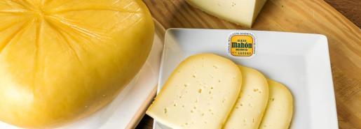 Imagen promocional del queso Mahón-Menorca.