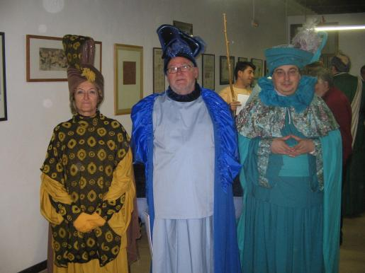 Malén Cantarellas, Pere Rayó y Andreu Caballero sn los Reyes Magos.