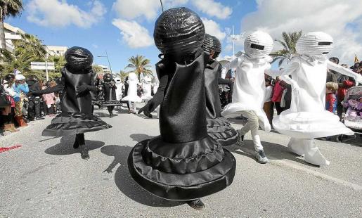 Una imagen del Carnaval del año pasado en la isla de Eivissa.
