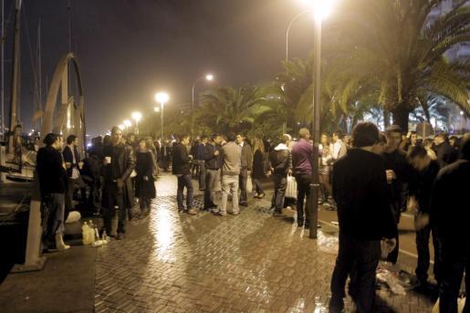 El Passeig Marítim de Palma fue de lo más concurrida en Nochebuena.