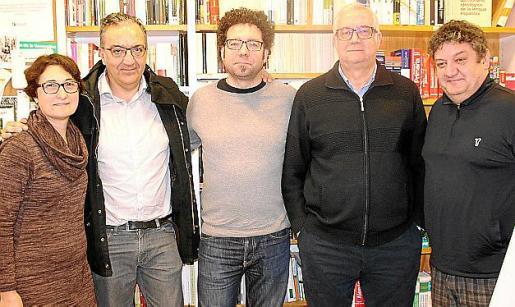 Glòria Forteza-Rey, Xavier Pla, Jesús Revelles, Damià Pons y Tomeu Martí.