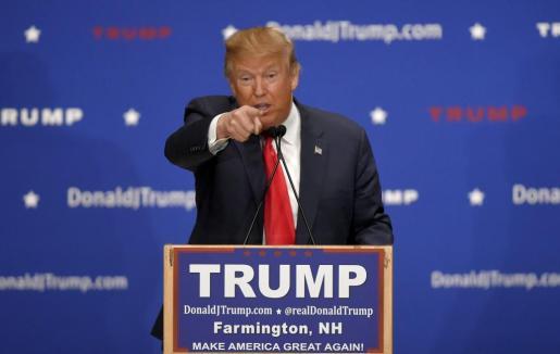 Candidato republicano Donald Trump.