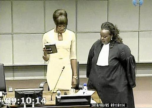 Testimonio de la modelo Naomi Campbell ante el tribunal especial para Sierra Leona en La Haya.