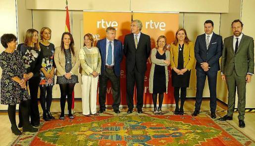 Algunos representantes de las ciudades Patrimonio de la Humanidad fueron recibidos en RTVE.