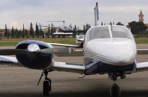 Una de las avionetas de Son Bonet.