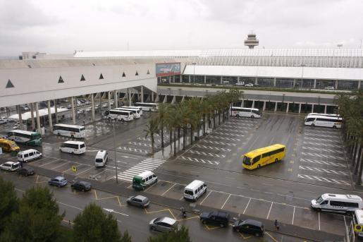 Vista aérea del aeropuerto de Palma, Son Sant Joan.