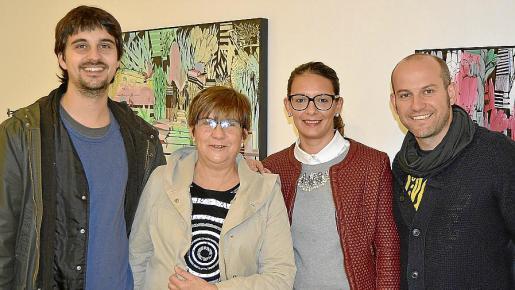 Joan Cànoves, Cati Rico, Cati Pareda y Toni Amer.