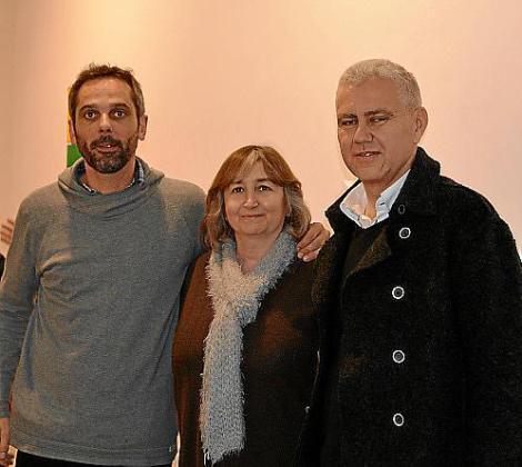 Felip Caldés, Dolors Pérez y Josep Melià.
