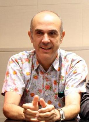 Koldo Losada durante la presentación de la obra 'Wilt, el crímen de la muñeca hinchable' en Palma.