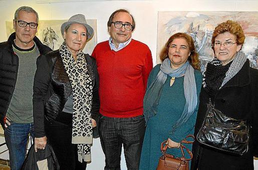 Miquel Àngel Lladó, Silvia Bredar, Miguel Angel Benito, Carmen Matarín y Antònia Moyà.