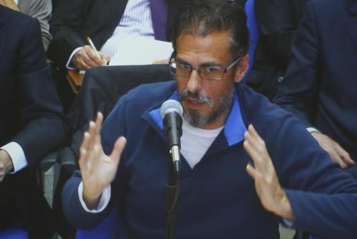 El exasesor jurídico del Instituto Balear de Turismo (Ibatur) Miquel Àngel Bonet, durante su declaración de este miércoles en el marco del caso Nóos.