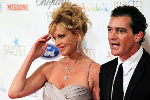 Antonio Banderas, con su inseparable Melanie, está a punto de cumplir el medio siglo.