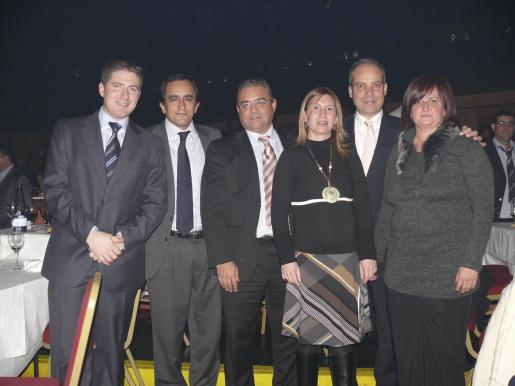 Guillem Ginard, Matías Barón, Miquel Àngel Flaquer, Magdalena Vives, Miquel Ferrer y Mercedes Garau.